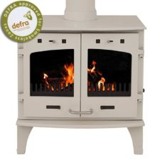 "Cream Enamel 11kW Carron Multi Fuel Stove (6"" Flue)"
