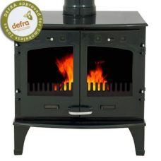 "Green Enamel 11kW Carron Multi Fuel Stove (6"" Flue)"