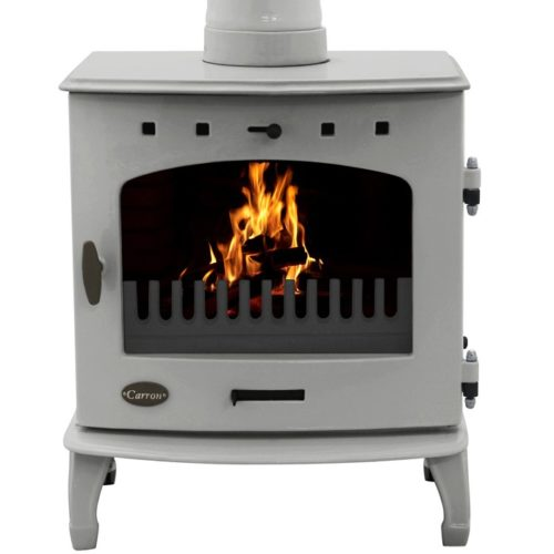 Ash Grey Enamel 4.7kW Carron Multi Fuel Stove