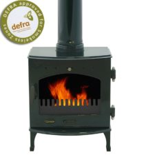 "Green Enamel 4.7kW Carron Multi Fuel Stove (5"" Flue)"