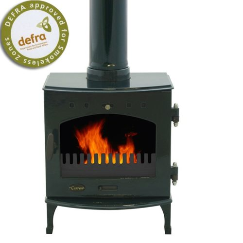 Freestanding Green Enamel 4.7kW Carron Multi Fuel Stove