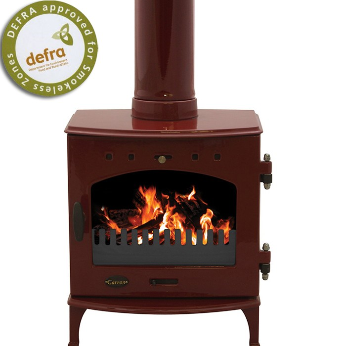 Red Enamel Carron Multi Fuel Stove At The