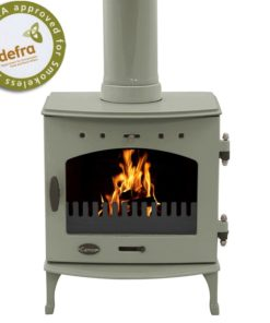 Sage Green Enamel 4.7kW Carron Multi Fuel Stove