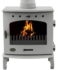 Ash Grey Enamel 7.3kW Carron Multi Fuel Stove