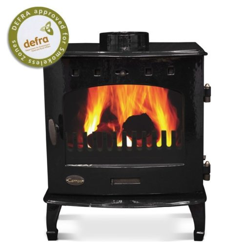 Black Enamel 7.3kW Carron Multi Fuel Stove