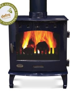 Blue Enamel 7.3kW Carron Multi Fuel Stove