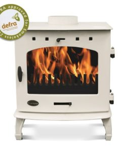 Cream Enamel 7.3kW Carron Multi Fuel Stove