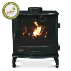 "Green Enamel 7.3kW Carron Multi Fuel Stove (6"" Flue)"