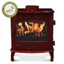 "Red Enamel 7.3kW Carron Multi Fuel Stove (6"" Flue)"