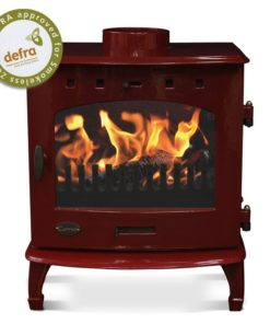 Red Enamel 7.3kW Carron Multi Fuel Stove