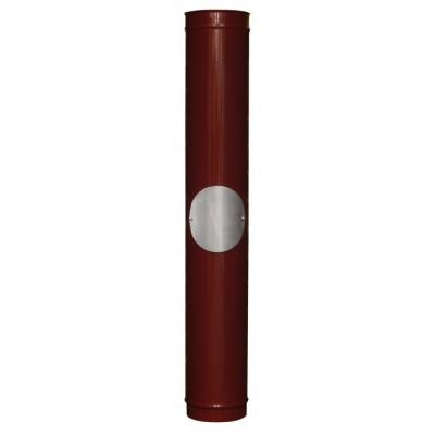 Red Enamel Carron Multi-Fuel Stove