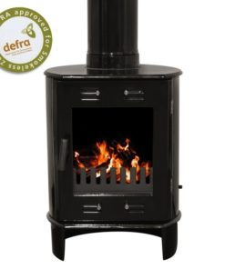 Black Enamel 5kW Carron Dante Multi Fuel Stove