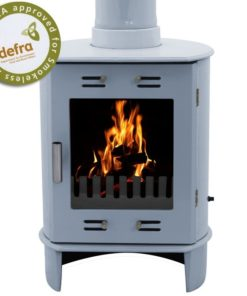 China Blue Enamel Carron Dante Multi-Fuel Stove
