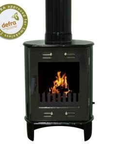 Green Enamel 5kW Carron Dante Multi Fuel Stove