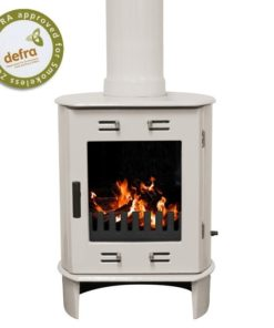 Cream Enamel Carron Dante Multi-Fuel Stove