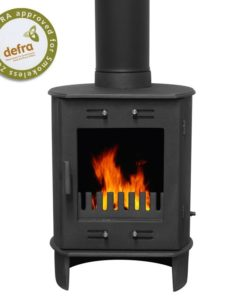 Matt Black 5kW Carron Dante Multi Fuel Stove