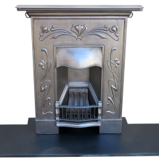 "BED136 - Art Nouveau Bedroom Fireplace (36.25""H x 30""W)"