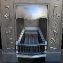 """BED136 - Art Nouveau Bedroom Fireplace (36.25""""H x 30""""W)"""