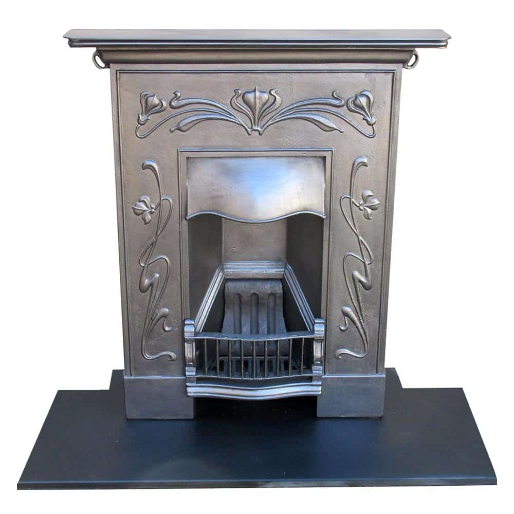 Art Nouveau Bedroom: Art Nouveau Bedroom Fireplace