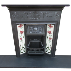 "COMBI279 - Edwardian Art Nouveau Classic Combination Fireplace (46.25""H x 42""W)"