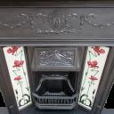 """COMBI279 - Edwardian Art Nouveau Classic Combination Fireplace (46.25""""H x 42""""W)"""