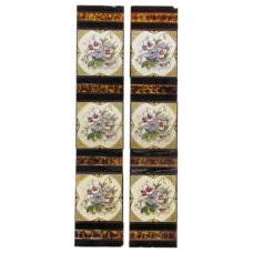 OT221 - Original Victorian Pansy Fireplace Tiles