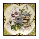 OT221 - Original Victorian Pansy Fireplace Tiles