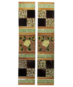 Late Victorian Floral Fireplace Tiles
