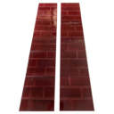 OT225 - Burgundy Brick Fireplace Tiles