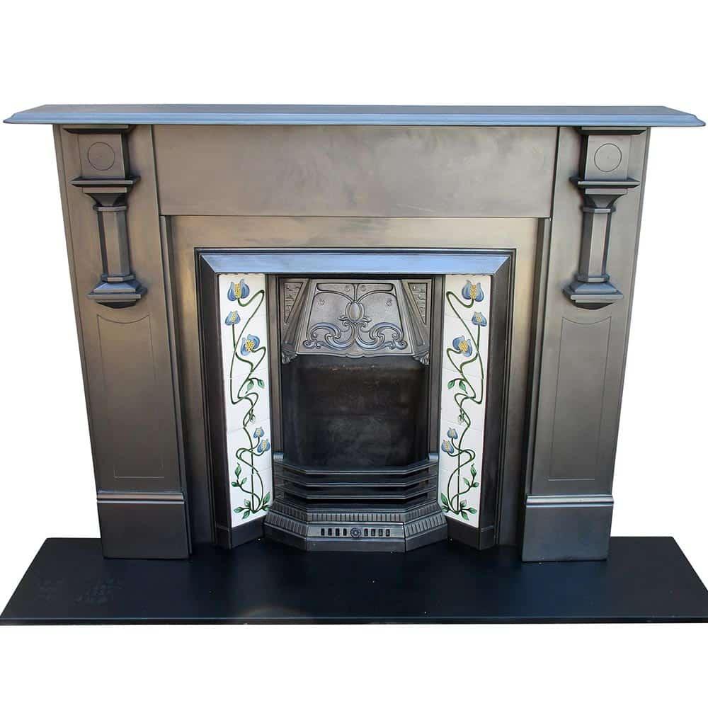 art deco edwardian slate surround victorian fireplace store