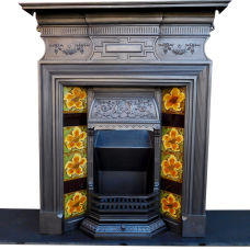 "COMBI281 - Antique Cast Iron Combination Fireplace (48""H)"