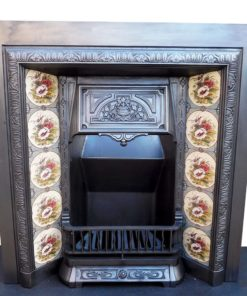 Antique Victorian Cast Iron Insert Fireplace