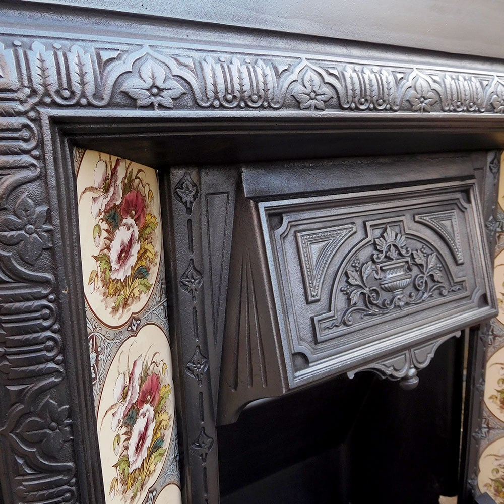 Antique Victorian Cast Iron Insert Fireplace Buy From Vfs