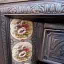 INS270 - Antique Victorian Cast Iron Insert Fireplace (38″H x 36″W)