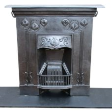"BED143 - Art Nouveau Bed Fireplace (36.5""W)"