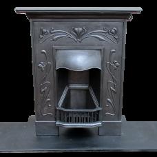 "BED144 - Art Nouveau Tulip Bed Fireplace (36.25""H x 30""W)"