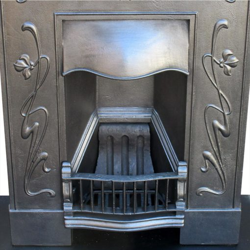 Art Nouveau Tulip Bed Fireplace