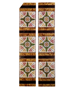 Victorian Symmetrical Fireplace Tiles