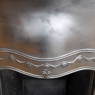 INS274 - Art Noveau Deco Cast Iron Insert Fireplace (36″H x 32″W)