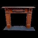 """TS066 - Mahogany Fireplace Surround (51""""H x 57.75""""W)"""