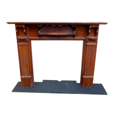 "TS066 - Mahogany Fireplace Surround (51""H x 57.75""W)"
