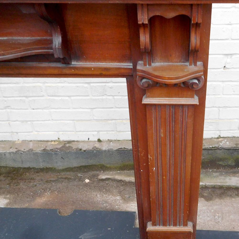 Original Mahogany Fireplace Surround Victorian Fireplace