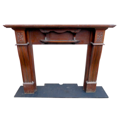 "TS067 - Antique Mahogany Fireplace Surround (51.5""H x 57.25""W)"