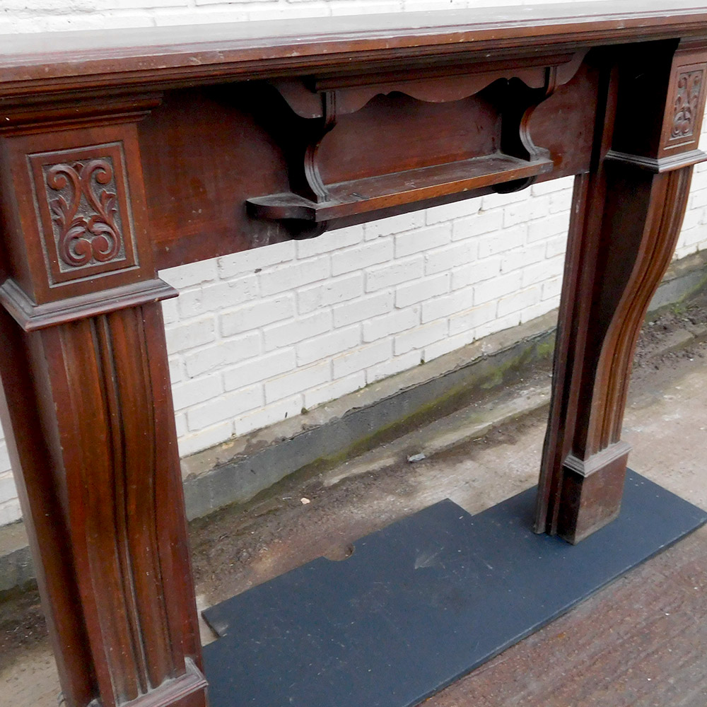 Antique Mahogany Fireplace Surround Victorian Fireplace Store