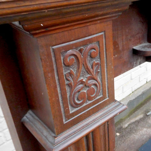 Antique Mahogany Fireplace Surround