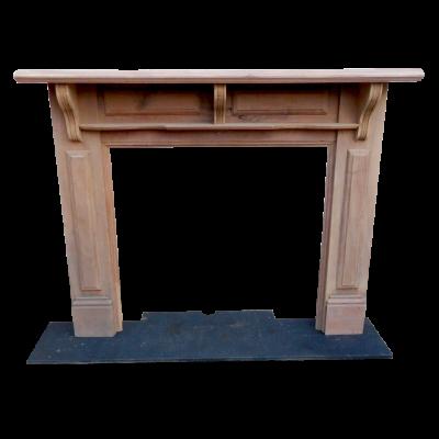 """TS068 - Light Timber Fireplace Surround (53.25""""H x 61.25""""W)"""