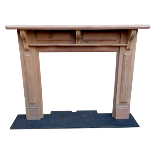 Light Timber Fireplace Surround
