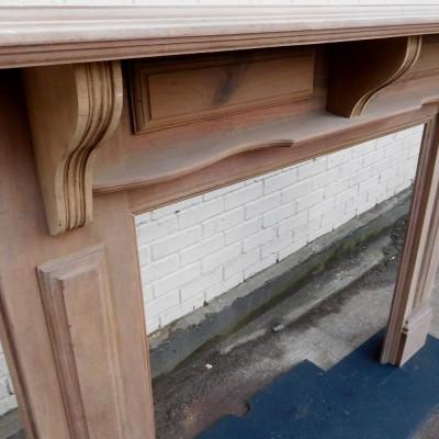 Light Timber Fireplace Surround