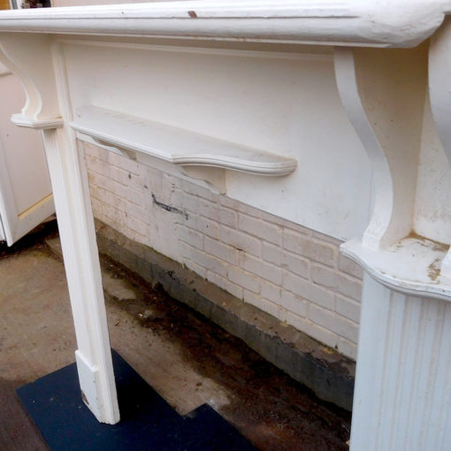 White Wooden Fireplace Surround