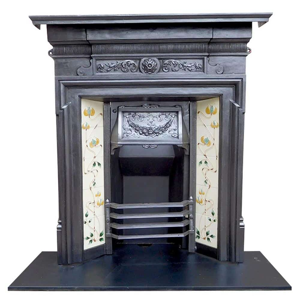 Cast iron combination fireplace victorian store